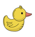 rubber duck game to entertainment in the shower vector image