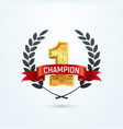 1 place champion award isolated icon vector image