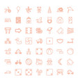 49 toy icons vector image vector image