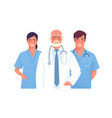 a medical team group vector image