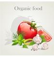 A set of fresh vegetables vector image