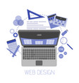abstract flat of web design and development vector image vector image