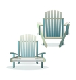 Adirondack wooden chair front and back vector image vector image