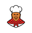 african american baker chef cook mascot vector image vector image