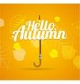 Autumn Umbrella Lettering Concept vector image vector image