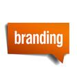 branding orange speech bubble isolated on white vector image vector image
