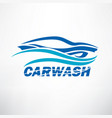 car wash stylized symbol design elements for vector image vector image