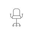 Chair icon outline vector image