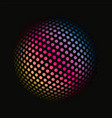 colored dots spherical 3d background pattern vector image vector image