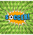 comic sport football bright template vector image vector image