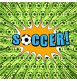 comic sport football bright template vector image