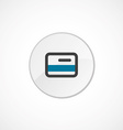 credit card icon 2 colored vector image vector image