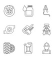 darn icons set outline style vector image vector image