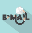 E-mail Typography Design vector image