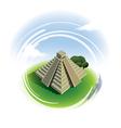 El Castillo Pyramid Chichen Itza vector image