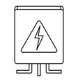 electrical box icon outline style vector image