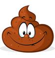 funny poo cartoon vector image vector image