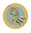 gray octopus vector image vector image