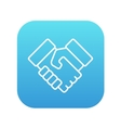 Handshake and successful real estate transaction vector image vector image