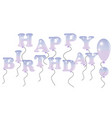 happy birthday inscription design for greeting vector image