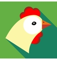 Hen icon in flat style vector image vector image