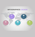 infographic design template with flat circle vector image vector image