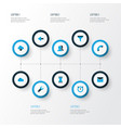 interface icons colored set with storage vector image vector image