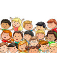 large company joyful children different vector image vector image