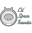 Lil Space Traveler vector image vector image