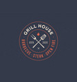 logo for grill house restaurant vector image vector image