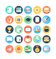 Modern Education and Knowledge Colored Icon 1 vector image vector image