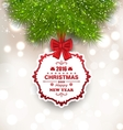 New Year Glowing Background Christmas Greeting vector image vector image