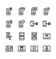 online payment icon set vector image vector image