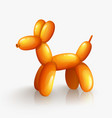 orange balloon dog isolated on white background vector image