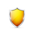 orange shield icon vector image vector image