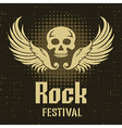 Rock Festival Poster Template vector image vector image