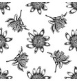 seamless pattern with black and white passion vector image vector image