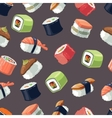 seamless pattern with picture set sushi vector image vector image