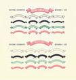 set of hand drawn ribbons doodles collection of vector image