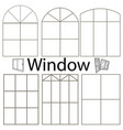 set window silhouettes various cut and vector image vector image