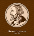 simon grynaeus was a german scholar and theologian vector image vector image