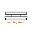 simple black marketplace sign vector image vector image
