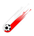 soccer ball with the flag of poland vector image vector image