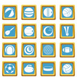 sport balls icons azure vector image vector image