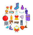 sportswear icons set cartoon style vector image vector image