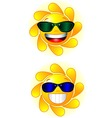 sun logos vector image