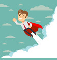 super businessman in red capes flying upwards to vector image vector image