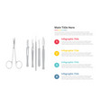 surgery surgical instruments tools infographics vector image vector image