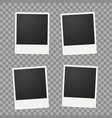 template for photo polaroid frames vector image vector image