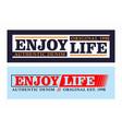 typography enjoy life vector image